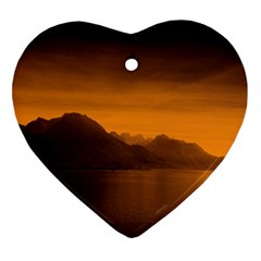 Waterscape, Switzerland Heart Ornament (Two Sides)
