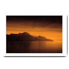 Waterscape, Switzerland Large Door Mat