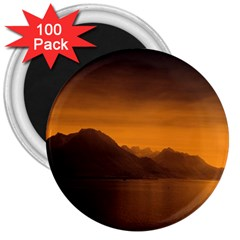 Waterscape, Switzerland 100 Pack Large Magnet (round)