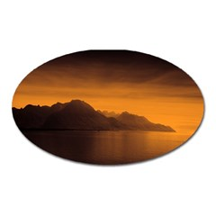 Waterscape, Switzerland Large Sticker Magnet (Oval)