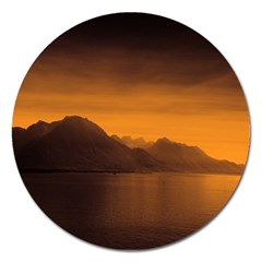 Waterscape, Switzerland Extra Large Sticker Magnet (Round)