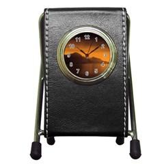 Waterscape, Switzerland Stationery Holder Clock