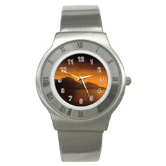 Waterscape, Switzerland Stainless Steel Watch (Round)