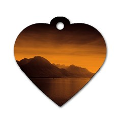 Waterscape, Switzerland Twin-sided Dog Tag (Heart)