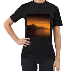 Waterscape, Switzerland Black Womens'' T Shirt