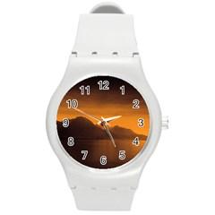 Waterscape, Switzerland Round Plastic Sport Watch Medium