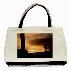 Vigeland Park, Oslo Twin-sided Black Tote Bag