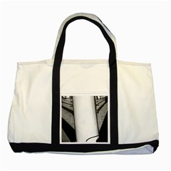Lines Two Toned Tote Bag