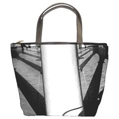 Lines Bucket Handbag