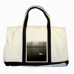 swan Two Toned Tote Bag