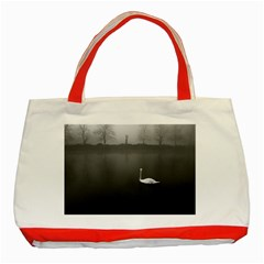 swan Red Tote Bag