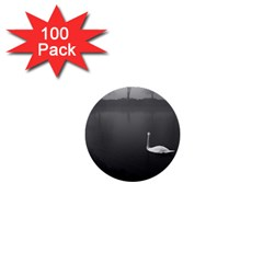 swan 100 Pack Mini Button (Round)