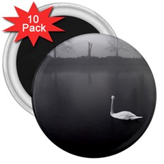 Swan 10 Pack Large Magnet (round)