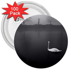 swan 100 Pack Large Button (Round)