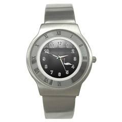 swan Stainless Steel Watch (Round)