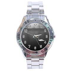 swan Stainless Steel Analogue Watch (Round)