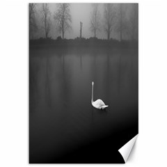 swan 12  x 18  Unframed Canvas Print