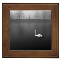 swan Framed Ceramic Tile