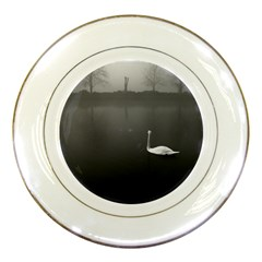 swan Porcelain Display Plate