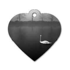 Swan Single Sided Dog Tag (heart)