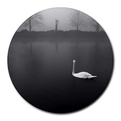 Swan 8  Mouse Pad (round)