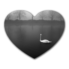 Swan Mouse Pad (heart)