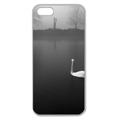 Swan Apple Seamless Iphone 5 Case (clear)