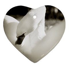 swan Heart Ornament (Two Sides)