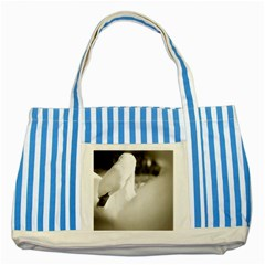 Swan Blue Striped Tote Bag