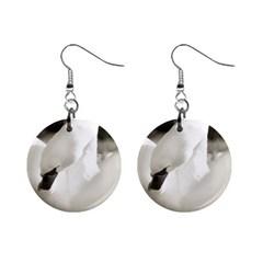 Swan Mini Button Earrings