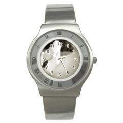 swan Stainless Steel Watch (Round)