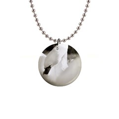 swan Mini Button Necklace