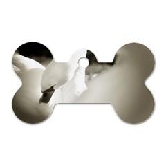 swan Single-sided Dog Tag (Bone)