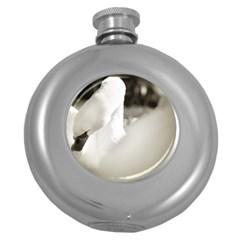 swan Hip Flask (Round)