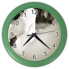 Swan Colored Wall Clock