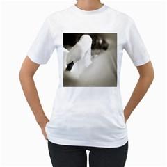 swan White Womens  T-shirt