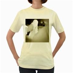 swan Yellow Womens  T-shirt