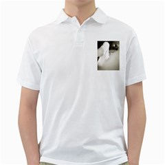 Swan White Mens  Polo Shirt