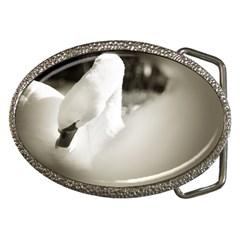 swan Belt Buckle (Oval)