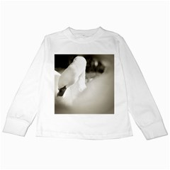 Swan White Long Sleeve Kids'' T Shirt