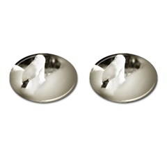swan Oval Cuff Links