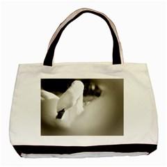 swan Black Tote Bag