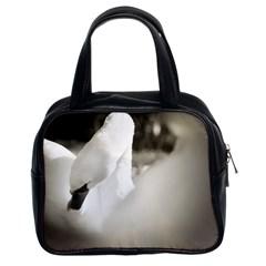 Swan Twin Sided Satchel Handbag