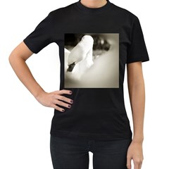 swan Black Womens'' T-shirt