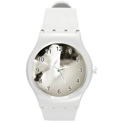 swan Round Plastic Sport Watch Medium