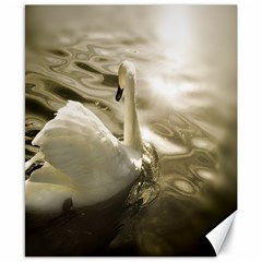 swan 8  x 10  Unframed Canvas Print