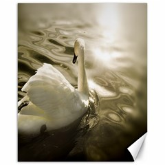 swan 16  x 20  Unframed Canvas Print