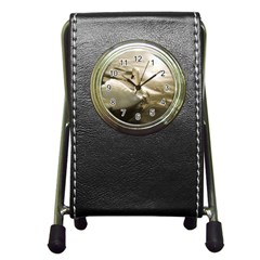 Swan Stationery Holder Clock