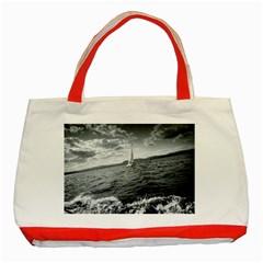 sailing Red Tote Bag
