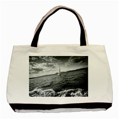 sailing Twin-sided Black Tote Bag